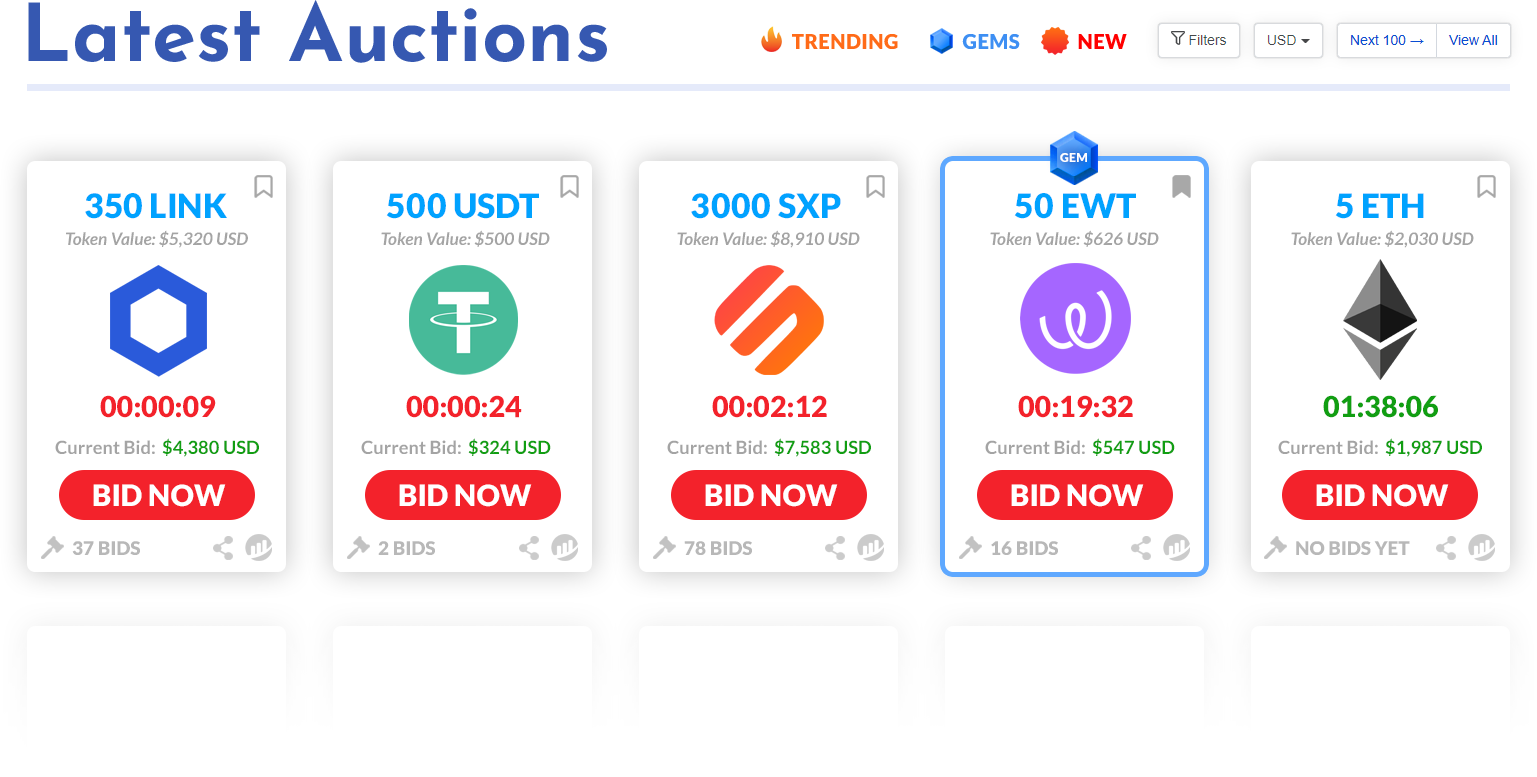 DefiBids Auctions Launching SOON